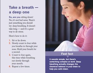 Deep breathing instructions, Adele Logan SHINE! Stress management, relax and calm your mind.